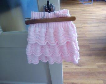 knitted ruffled skirt