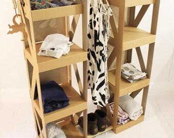 Wardrobe Clothing Rack / Wardrobe Insert CARDBOARD JUNGLE Cardrobe