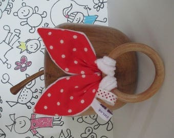 Red rabbit ears rattle