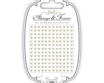 Board of 156 stickers 4mm - AFAPRL002 ivory pearls