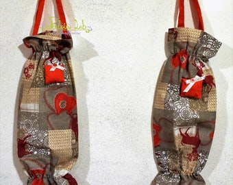 Fabric envelope bag Christmas fantasy decorated with padded Pack