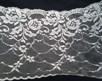 White Ribbon lace trim 530 couture deco wedding