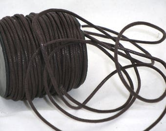Brown 2 mm waxed cotton cord