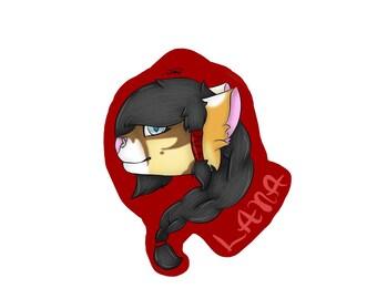 Custom character/fursona fursuit badge (your character here)
