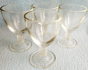 Set of 7 Mini Cordial Stemware Goblets, for Sherry, Cordials, and Desert Wines