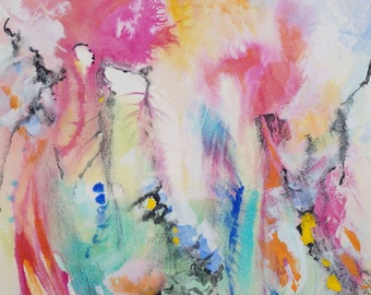 """Card titled """"The three worlds or Alliance"""" print of my original watercolor painting"""