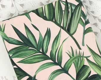 Leaf and leaf 100% Cotton Fabric BY HALF YARD / Green plant / digital print / free shipping / realistic leaves F5/481+