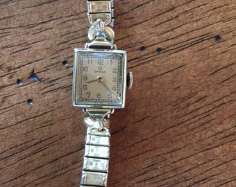 a44df639e70 Vintage omega ladies 10k gold filled 17 jewels swiss mechanical watch c1945