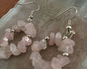 Pretty Pastel Pink Stone Earrings