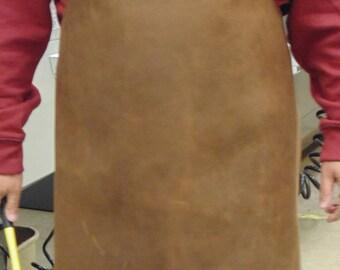 Leather Work Apron - Blacksmith Apron - Forging Apron - Carpentry - Economy Leather Apron - Plain Leather Apron