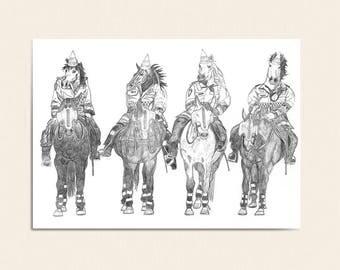 Happy Birthday Card - Have a horsey birthday!