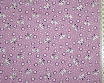 "Retro purple patchwork fabric - 30 years - 11 ""Storybook Playtime"""