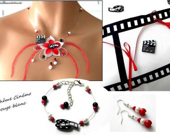 White red flowers silk feather bridal Pearl wedding movie clap movie set