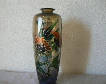 "vase soliflore - decoration ""Japanese Peony"" - height: 35 cm"