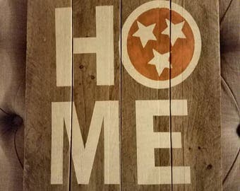 Reclaimed wood  sign Tn Vols
