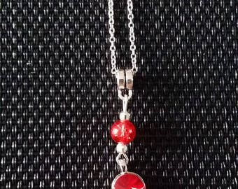 Red Mickey necklace