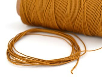 Camel Brown 0.5 mm polyester cord 1 M