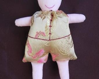Romain Jacquard Gold Chinese doll