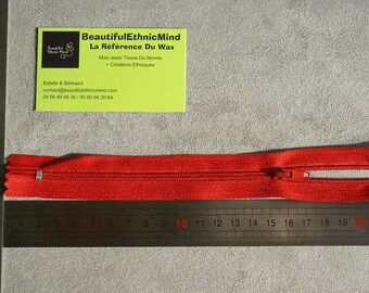 20cm red zipper