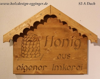 Beekeepers signs with different fonts