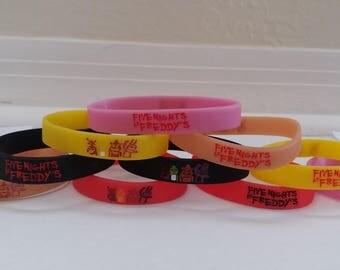 Glow in the Dark - Five Nights at Freddy's bracelets, kids birthday party favors FNAF