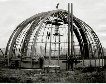 Raising the Observatory Dome