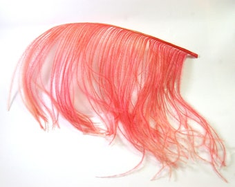 strands of natural dyed ostrich feather