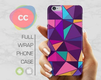 Purple Polygon Phone Case - iPhone 7 Case - iPhone 8 Case - iPhone 6 Case - iPhone 5 Case - iPhone X Case - Samsung S8 Case - PC-302