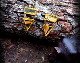 Earrings Triangles Wax