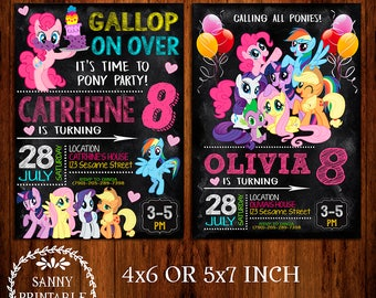 My Little Pony Invitation, My Little Pony Invite, My Little Pony Birthday, My Little Pony Party, My Little Pony Printable, Little Pony Card