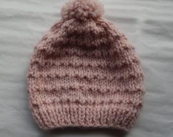 Baby Hat pink 18-24 months