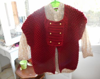 """jacket knitted wool """"Bergère france"""" Crayon """"brick"""" T 38/40"""