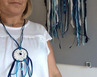 DreamCatcher Necklace blue dreams