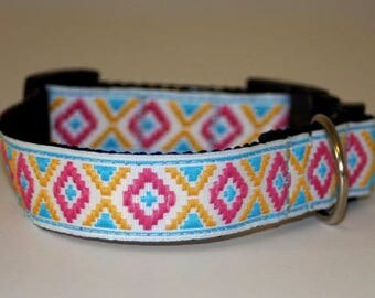"Dog Collar +Special price+Jacquard Ribbon ""Space ships""  Design Pet accessories fashion"