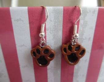 Dog paws polymer pierced earrings