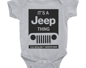 Jeep Thing Infant Bodysuit Onesies