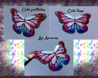 (The pink Aurora) x 1 butterfly wings