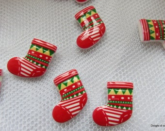 5 little boot Christmas plastic for your Christmas table decoration