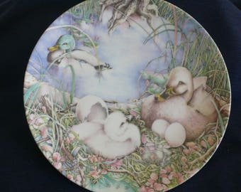 "Vintage Bradford Exchange Collectible Plate (circa 1985) - ""Not Like The Others"" - Karen Jean Bornholt"