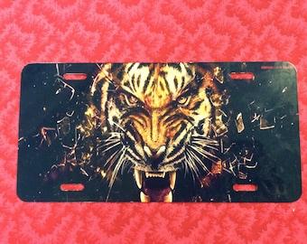Tiger License Plate
