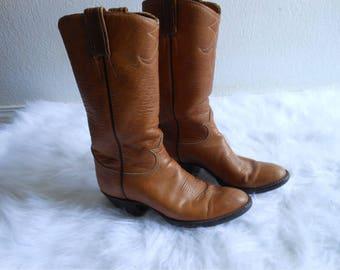 Tan Tony Lama Wesstern Boots