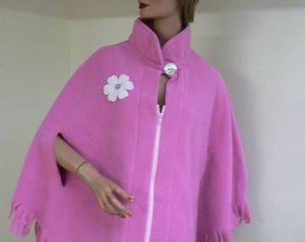 Cape material color hot pink fleece