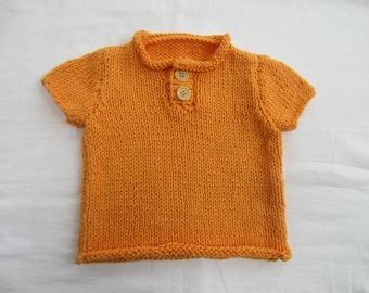 Orange baby sweater