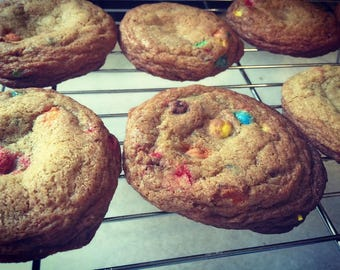 One Dozen Large M&M Cookies