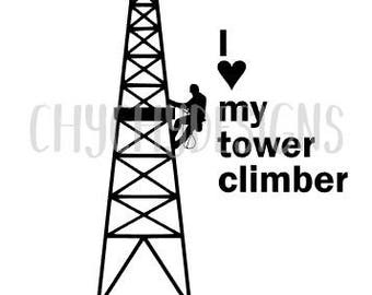 Tower Climber spouse/girlfriend/significant other decal