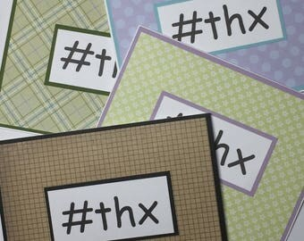 Hashtag Thank You Cards, Pack of 4