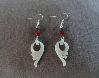 Earrings in vegetal ivory