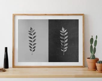 Herbarium, Leaf Photo, Plants Photo, Plants Photography, Ying Yang, Nature Photography, Spiritual Photo, Gift for twin sisters, Duality