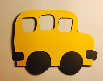 School Bus Paper Die Cuts (this can be made in all different colors or sizes)