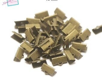 100 caps claw greenhouse Ribbon 13 mm, bronze